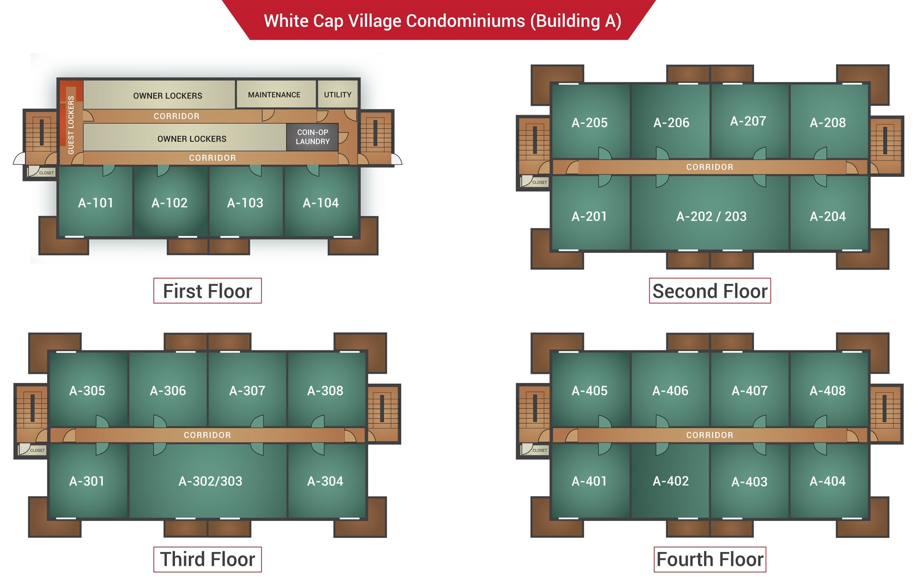 Floor Plan for Sunday River Condo - White Cap A-308