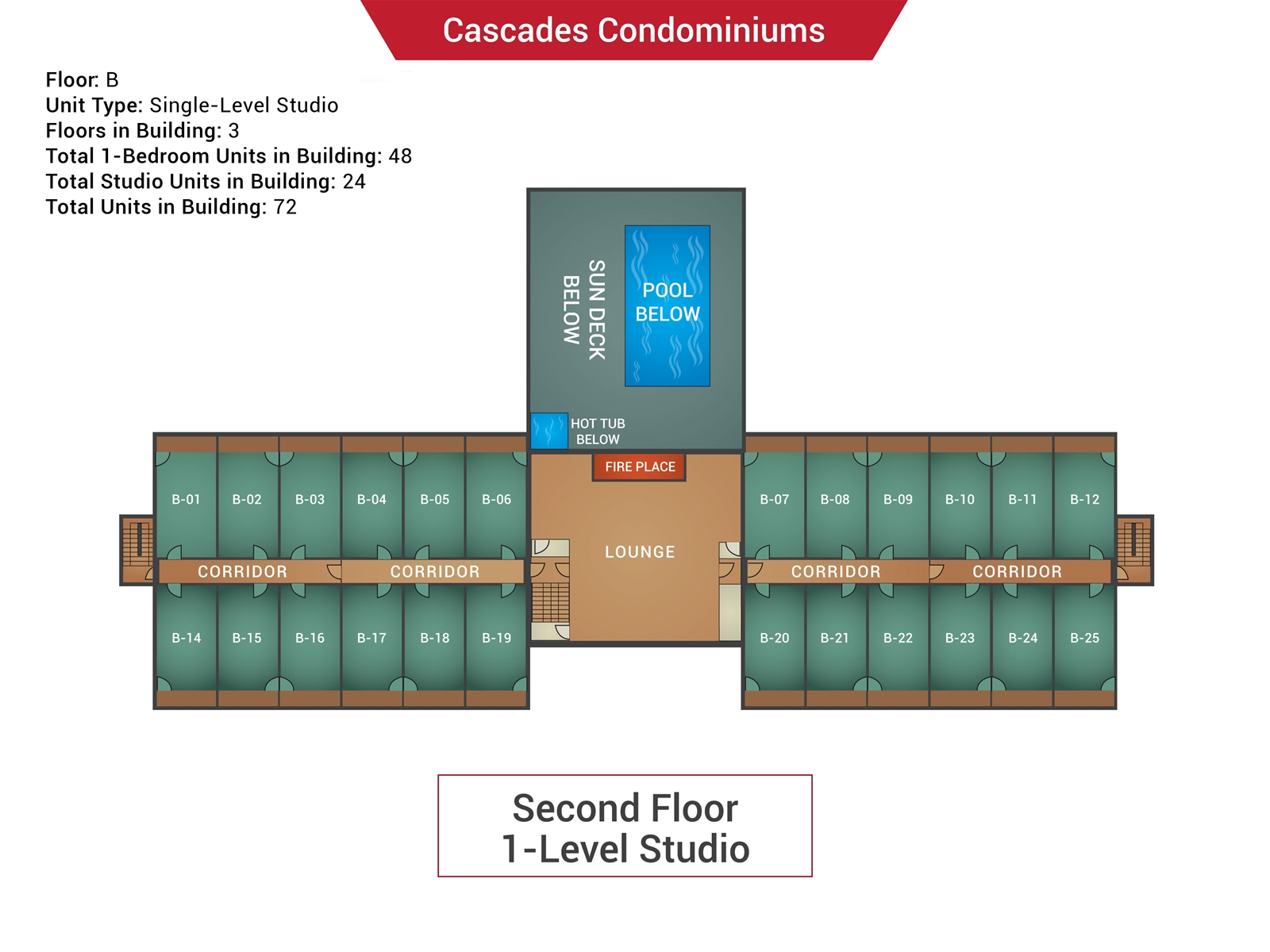 Floor Plan for Cascades B-09 - Sunday River Condo