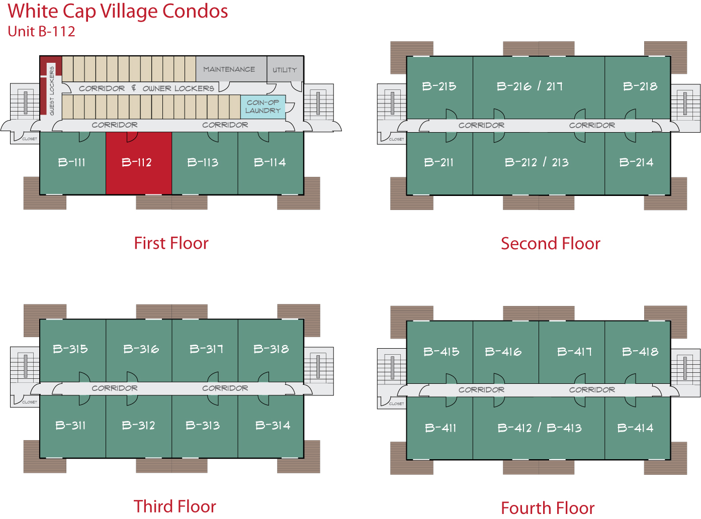Floor Plan for Sunday River Condo - White Cap B-112