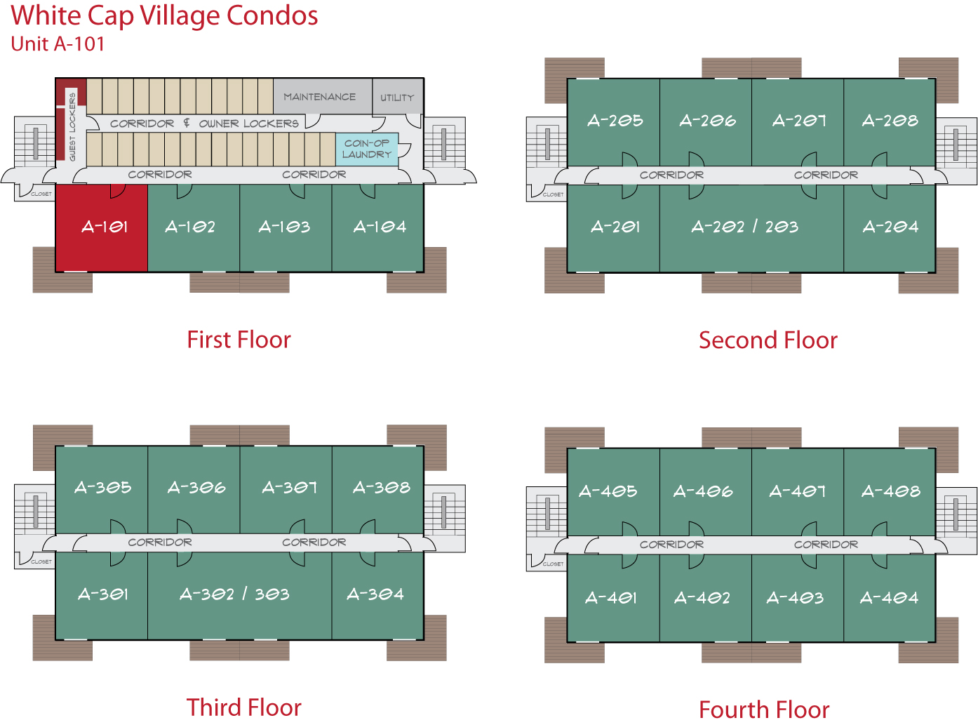 Floor Plan for Sunday River Condo - White Cap A-101