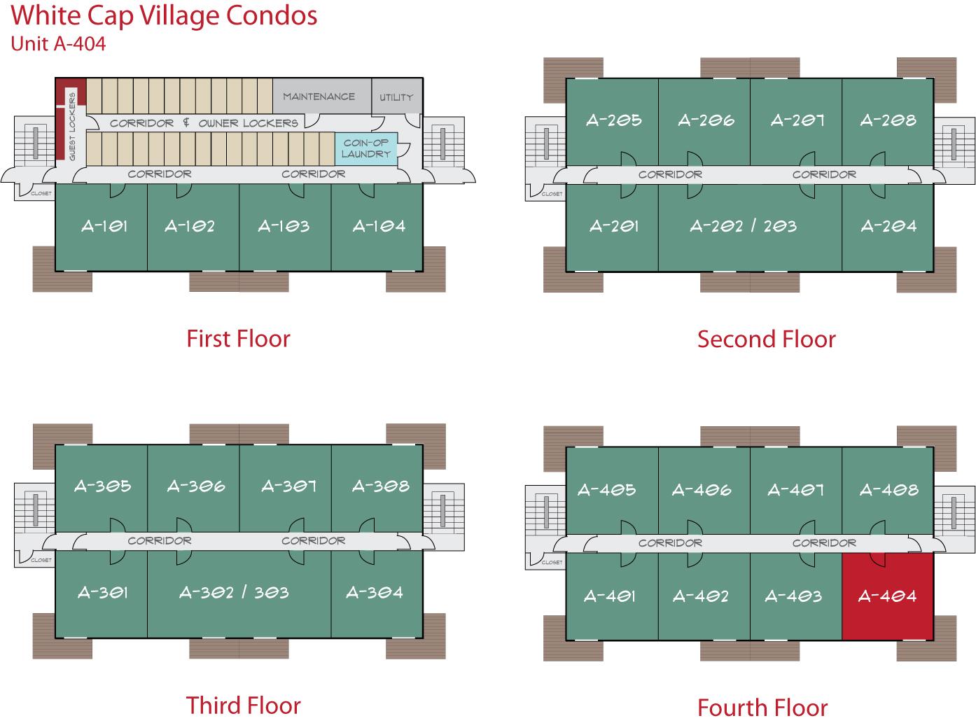Floor Plan for Sunday River Condo - White Cap A-404